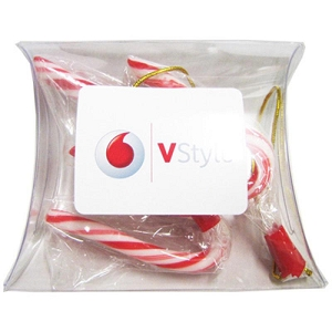 Pillow Pack Filled with Candy Canes X3 - Includes Colour Sticker, From $1.23