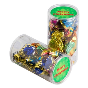 Pet Tube Filled with Christmas Mixed Eclairs X7 - Includes Colour Sticker, From $2.02