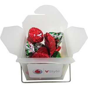 Frosted Noodle Box Filled with Christmas Chocolates 85G - Includes Colour Sticker, From $5.12