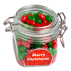 Christmas Jelly Beans in Canister 200G - Includes Colour Sticker, From $4.86