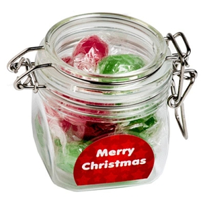 Christmas Twist Wrapped Boiled Lollies in Canister 120G - Includes Colour Sticker, From $4.55