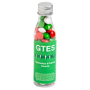 Christmas Chewy Fruits (Skittle Look Alike) in Soda Bottle 100G - Includes Colour Sticker, From $2.61