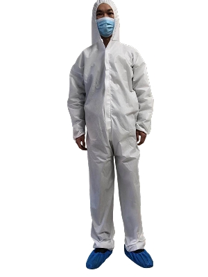 Full Protective Coverall Film Coated Water Resistant Barrier