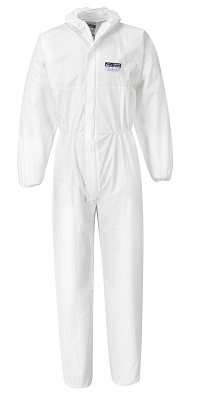 Coveralls White Zip Front