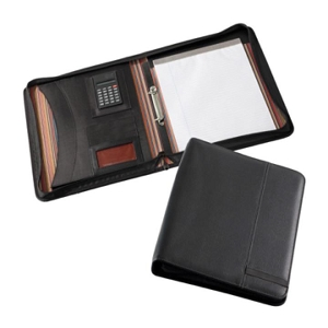 Madrid A4 Zippered Compendium with Calculator - Includes Laser Engraving, From $21.7