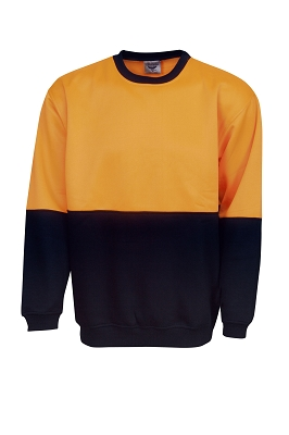 Hi Vis P/C Fleecy SweaT-shirt crew neck,