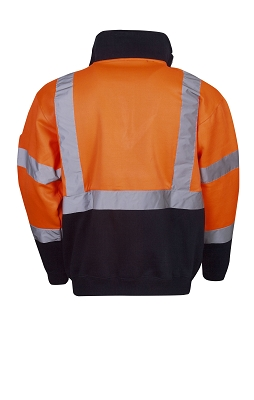 Hi Vis Fleecy Jumper, H pattern R-tape