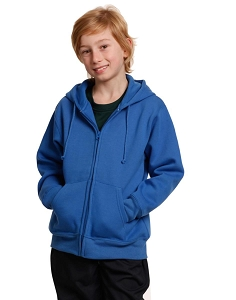Kid's full-zip fleecy hoodie
