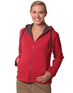 Ladies' Full Zip Contrast Fleece Hoodie, From $28.7