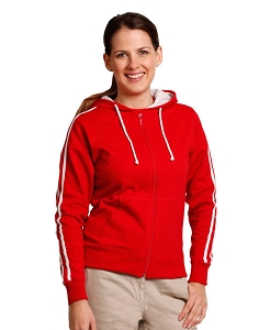 Ladies' Contrast French Terry Fleecy Hoodie