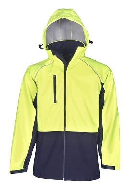 Hooded Hi Vis Soft Shell JackeT-shirt Day Use