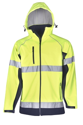 Hooded Hi Vis Soft Shell JackeT-shirt D/N Use