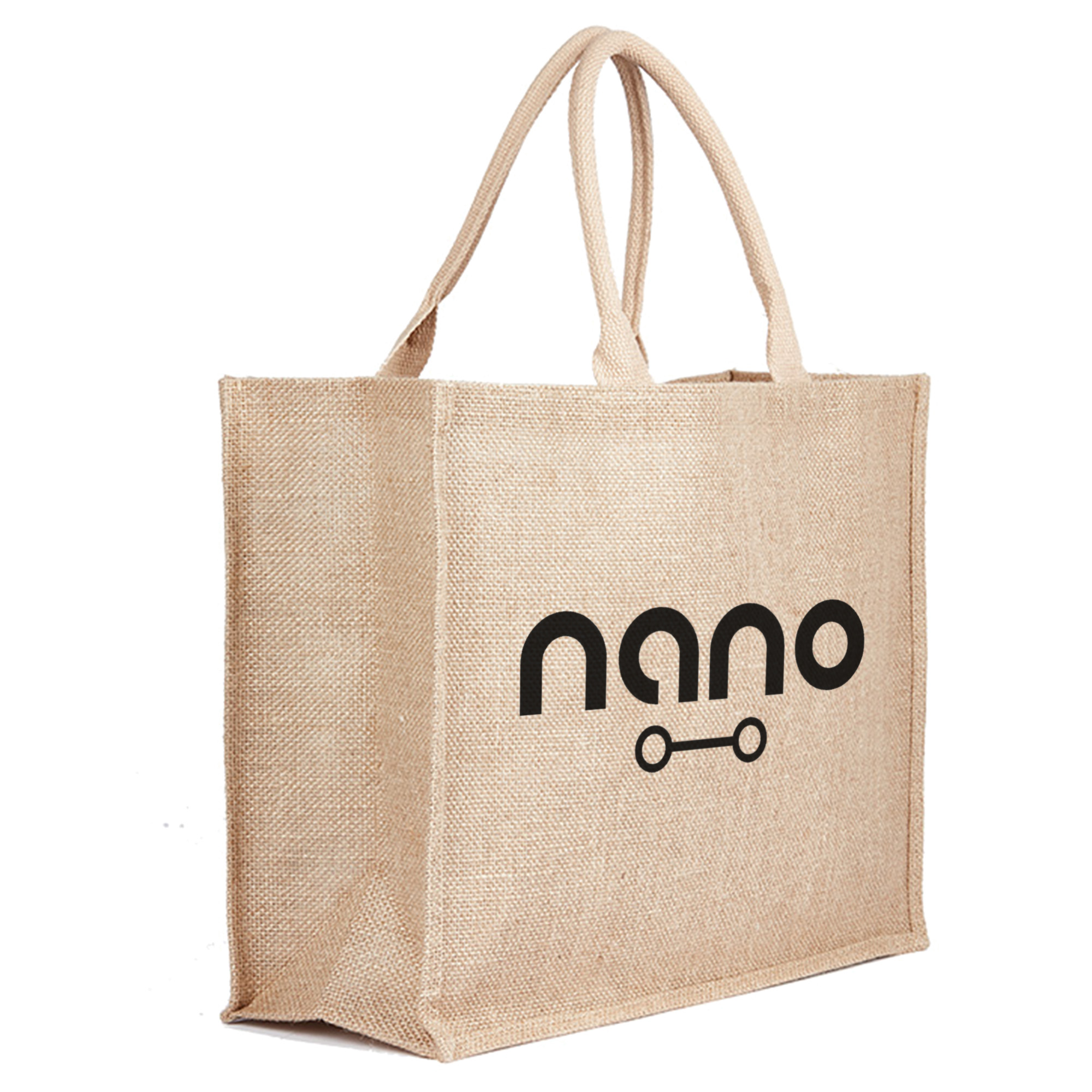 JUTE BAG NATURAL - 1 Colour Print, From $4.02