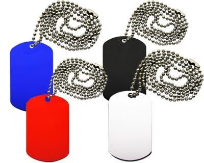 Dog Tag Necklace - Includes laser engravd logo, From $0.91