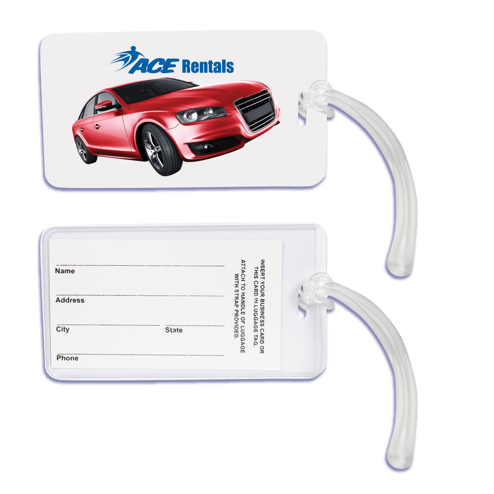 Monte Carlo Luggage Tag - Includes a 1 colour printed logo, From $1.03