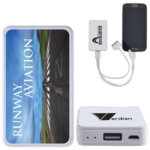 Compact Photo Power Bank - Includes a 1 colour printed logo