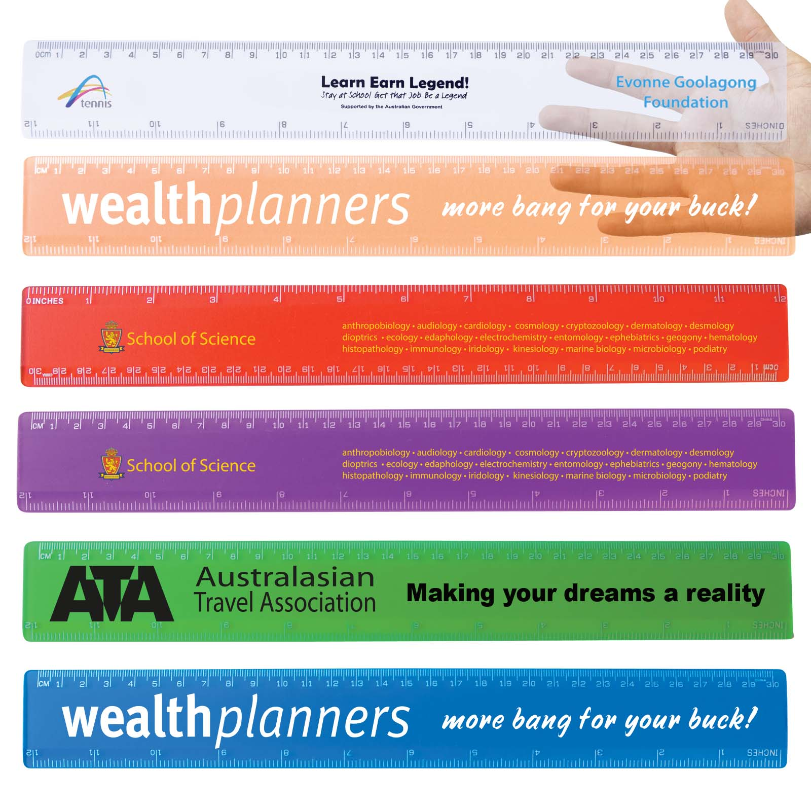 Transparent 30cm Premium Plastic Ruler - Includes a 1 colour printed logo, From $0.68