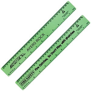 Echo Rule Recycled Plastic Ruler 30cm - Includes a 1 colour printed logo, From $1.01