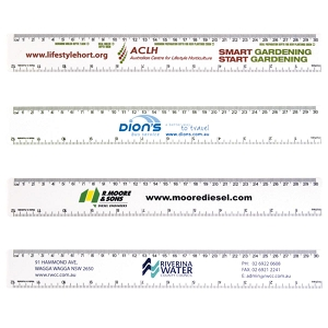 Australian Made 30cm Ruler - Includes a Custom Shape Up to 2 Col Print, From $0.94