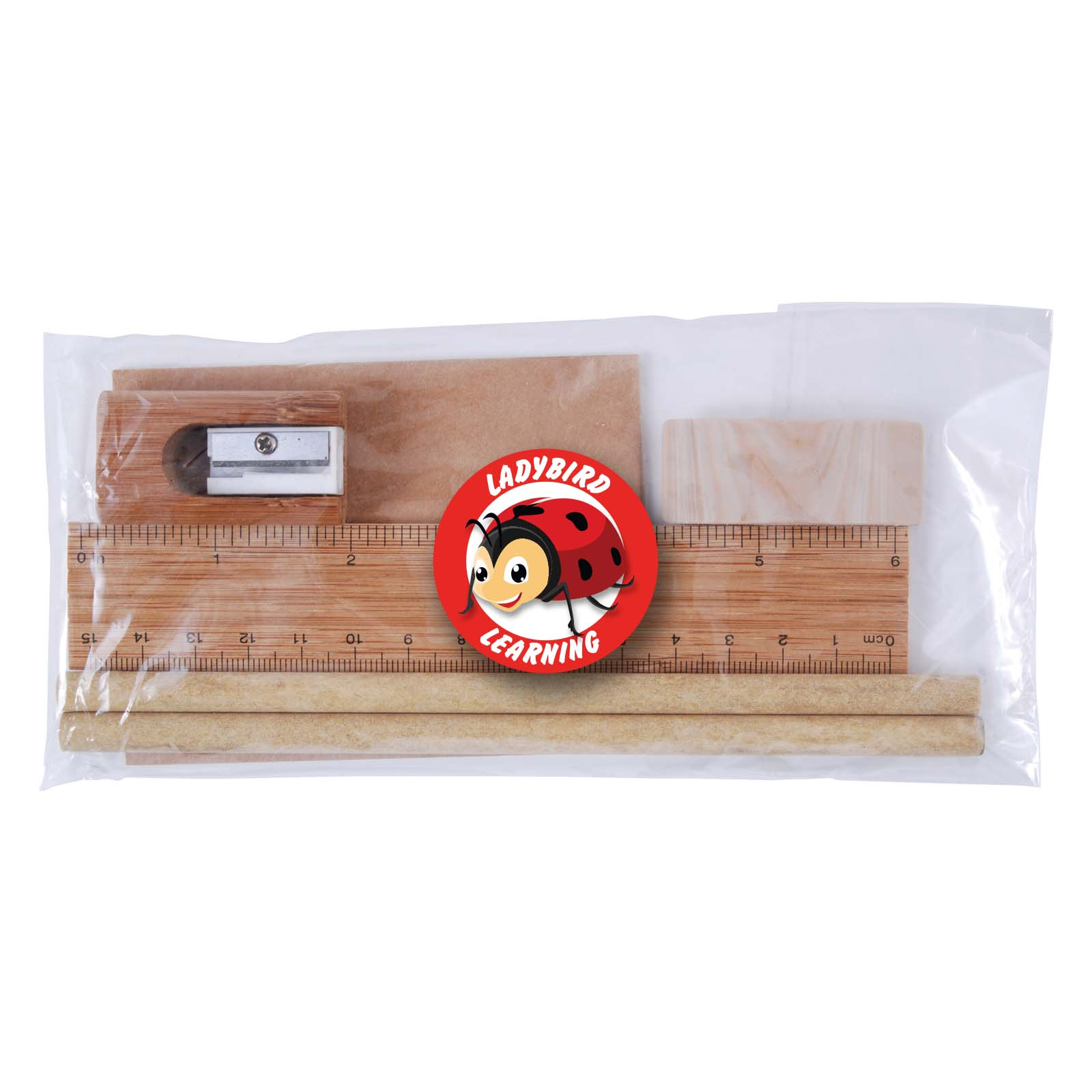 Bamboo Stationery Set in Cello Bag - Includes a full colour logo