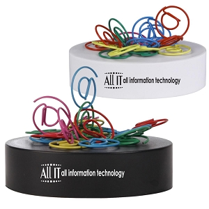 @ Shaped Paperclips on Paperweight Magnetic Base - Includes a 1 colour printed logo