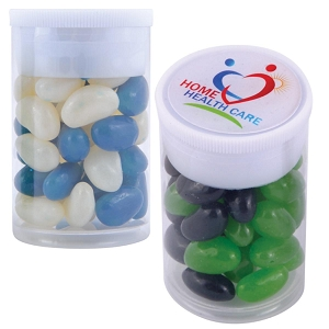 Corporate Colour Mini Jelly Beans in Dinky Tube - Includes a full colour logo