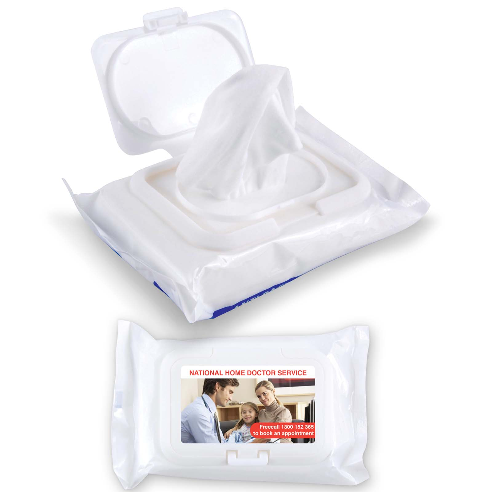 Aqua Wet Wipes - 1 Pos Digital Label