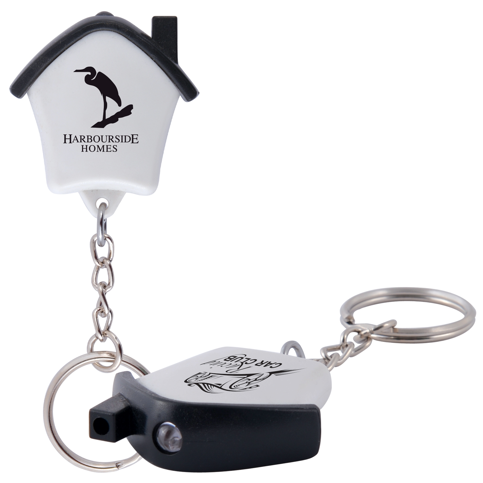 Mini House Flashlight Keytag - Includes a 1 colour printed logo