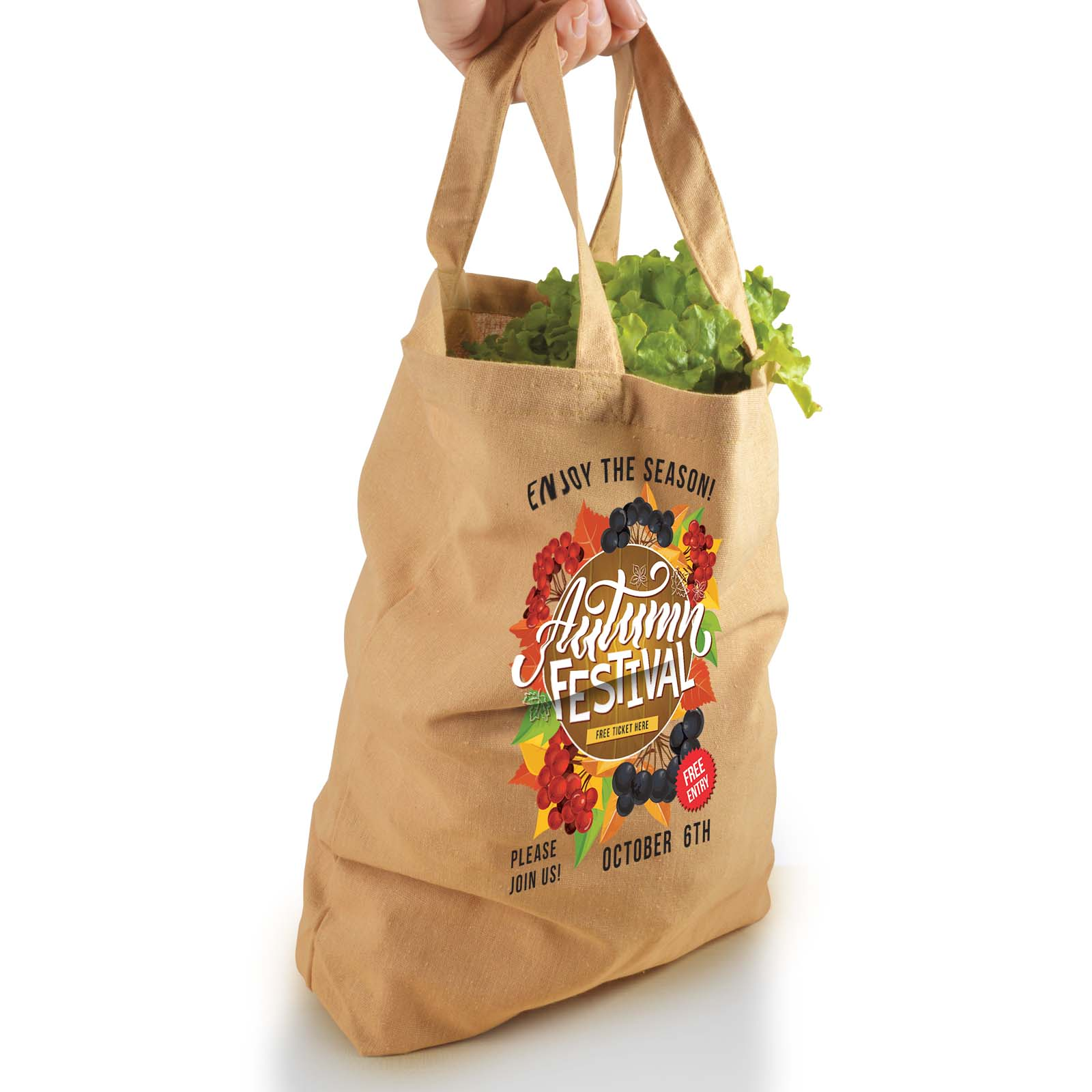 Enviro Supa Shopper Short Handle Bag - 170GSM - 1 Col 1 Pos Print