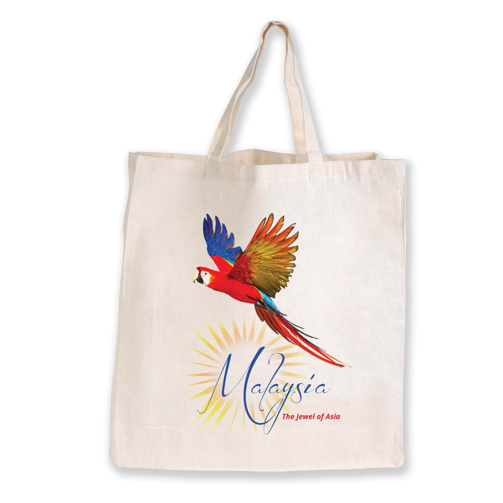 Supa Shopper Short Handle Calico Bag - 130 GSM - Includes a 1 colour printed logo