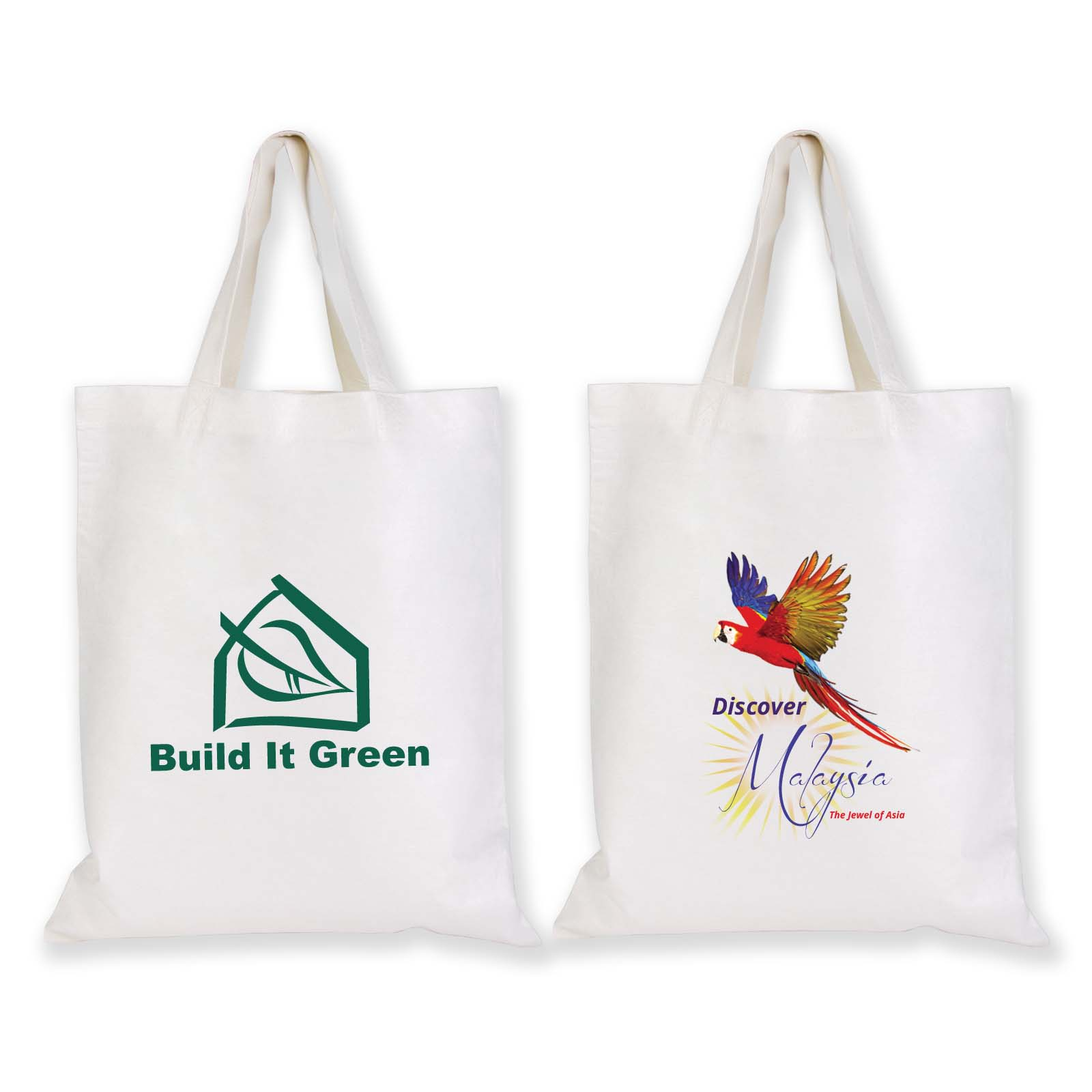 Short Handle Bamboo Tote Bag - 100 GSM - Includes a 1 colour printed logo