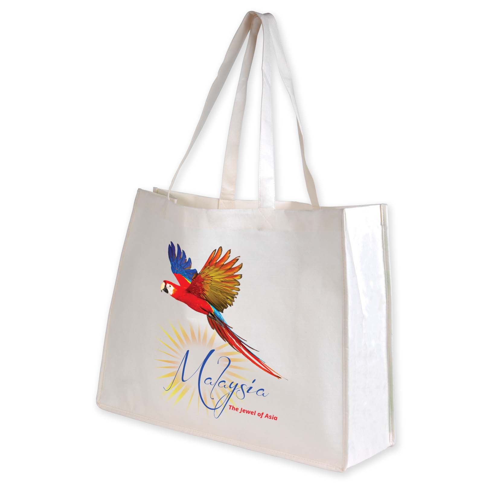 Giant Bamboo Carry Bag with Double Handles - 100 GSM - Includes a 1 colour printed logo