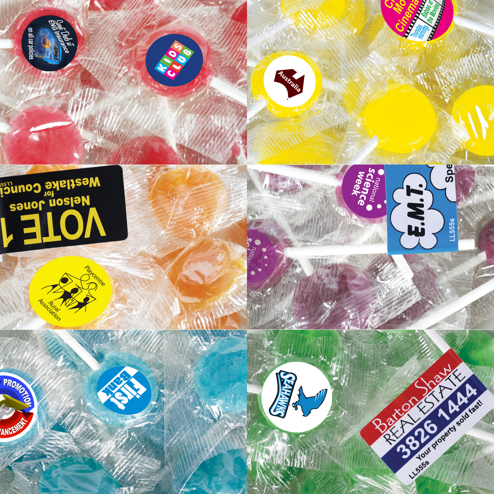 Corporate Colour Lollipops - Includes a full colour logo