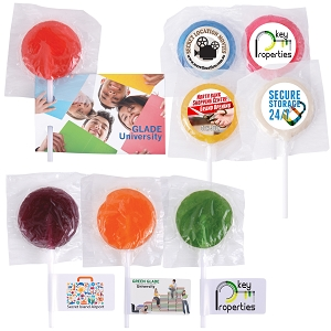 Assorted Colour Mega Lollipops - Includes a full colour logo, From $0.3