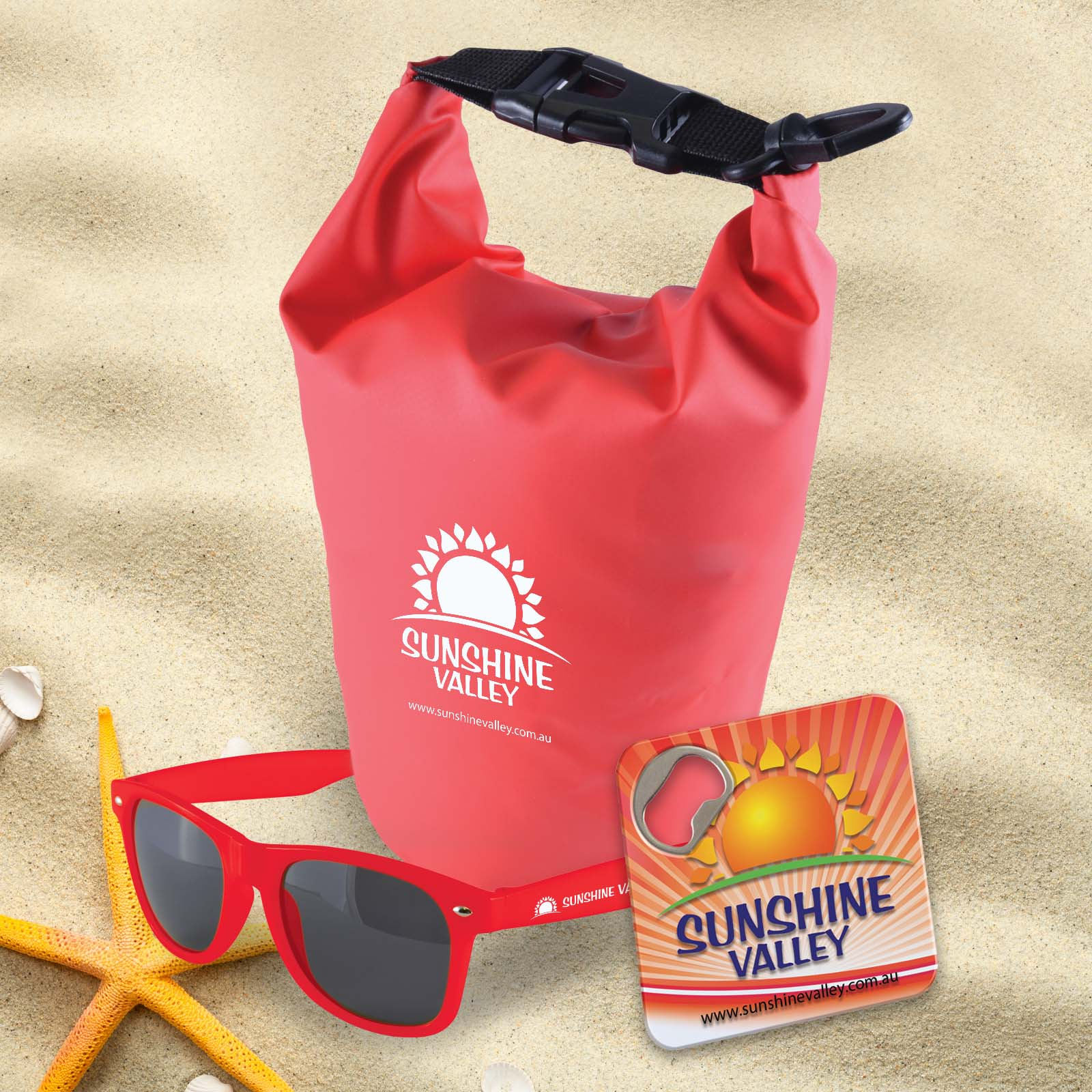 Bondi Beach Kit - 4 Pos Print (1 Screenprint + 2 Pad Print (each arm sunglasses) + 1 Digital Print