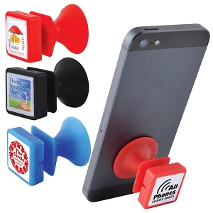 Lil Sucker Silicone Phone Stand - Includes a 1 colour printed logo