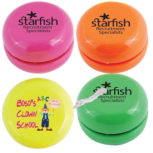 Standard Assorted Fluro Yo-Yo - Includes 1 colour in 2 locations