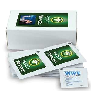 Clear-View Screen Wipes - Includes a full colour logo