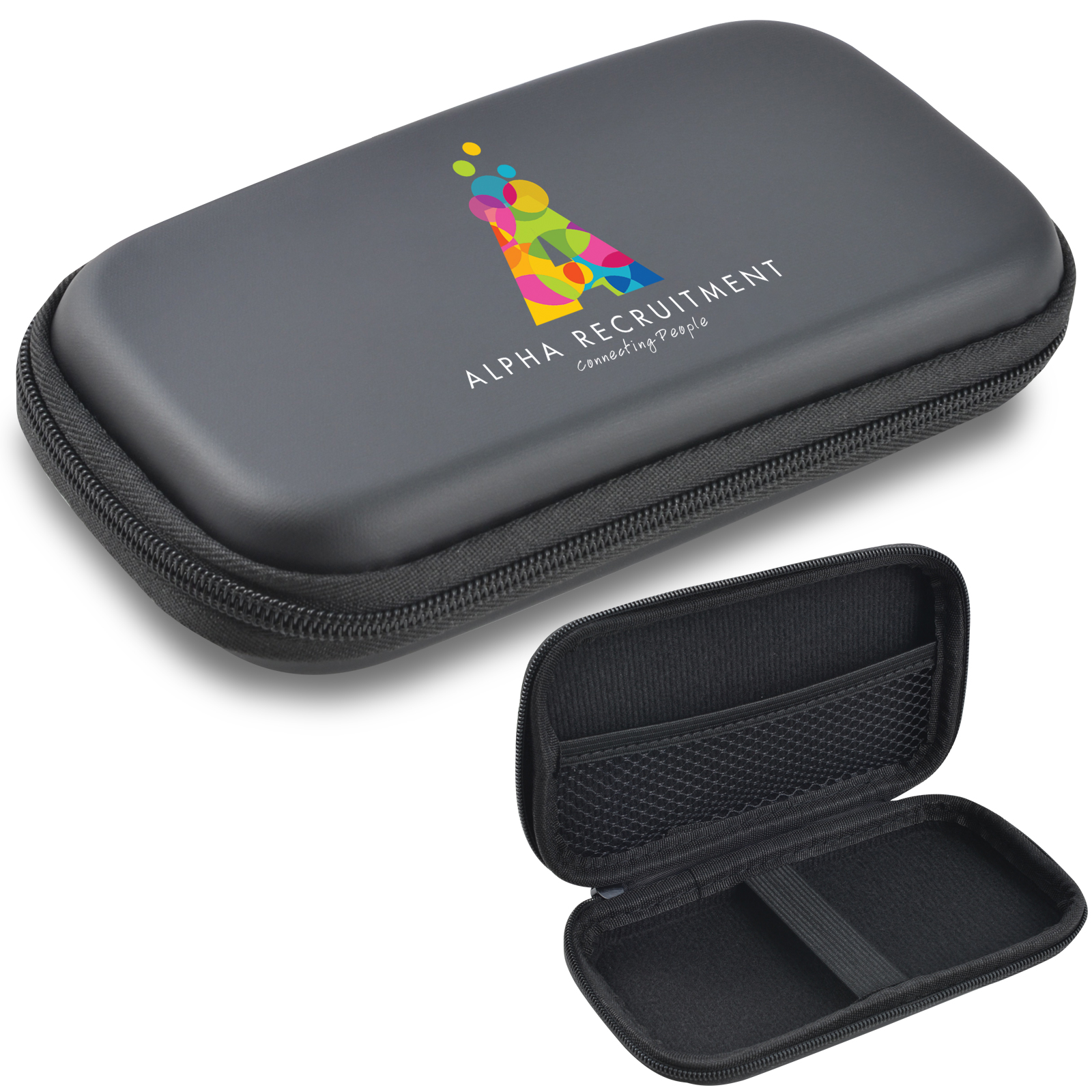 Medium EVA Zipper Case Low Profile 38mmH - Includes a 1 colour printed logo