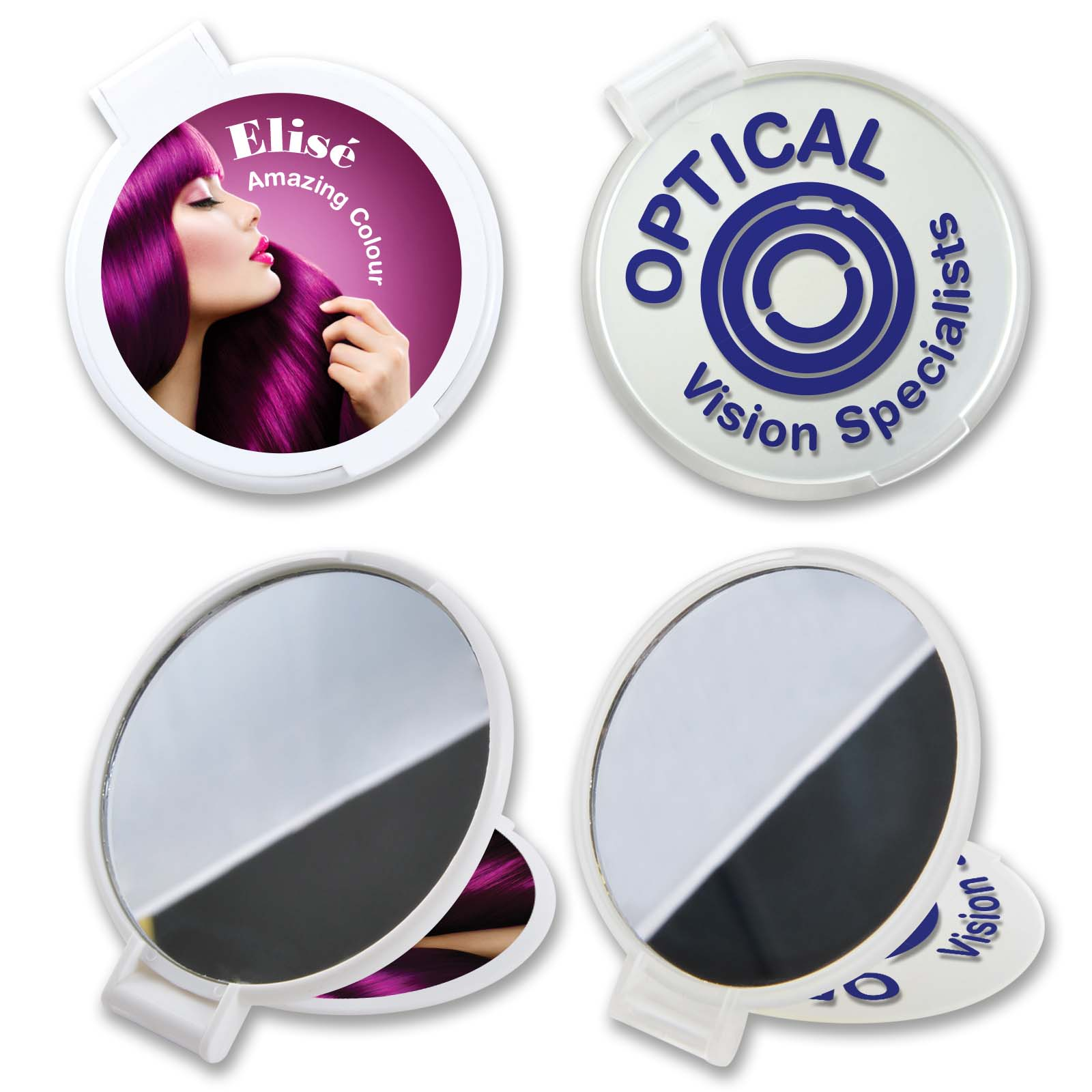 Reflections Round Folding Mirror - 1 Col 1 Pos Print