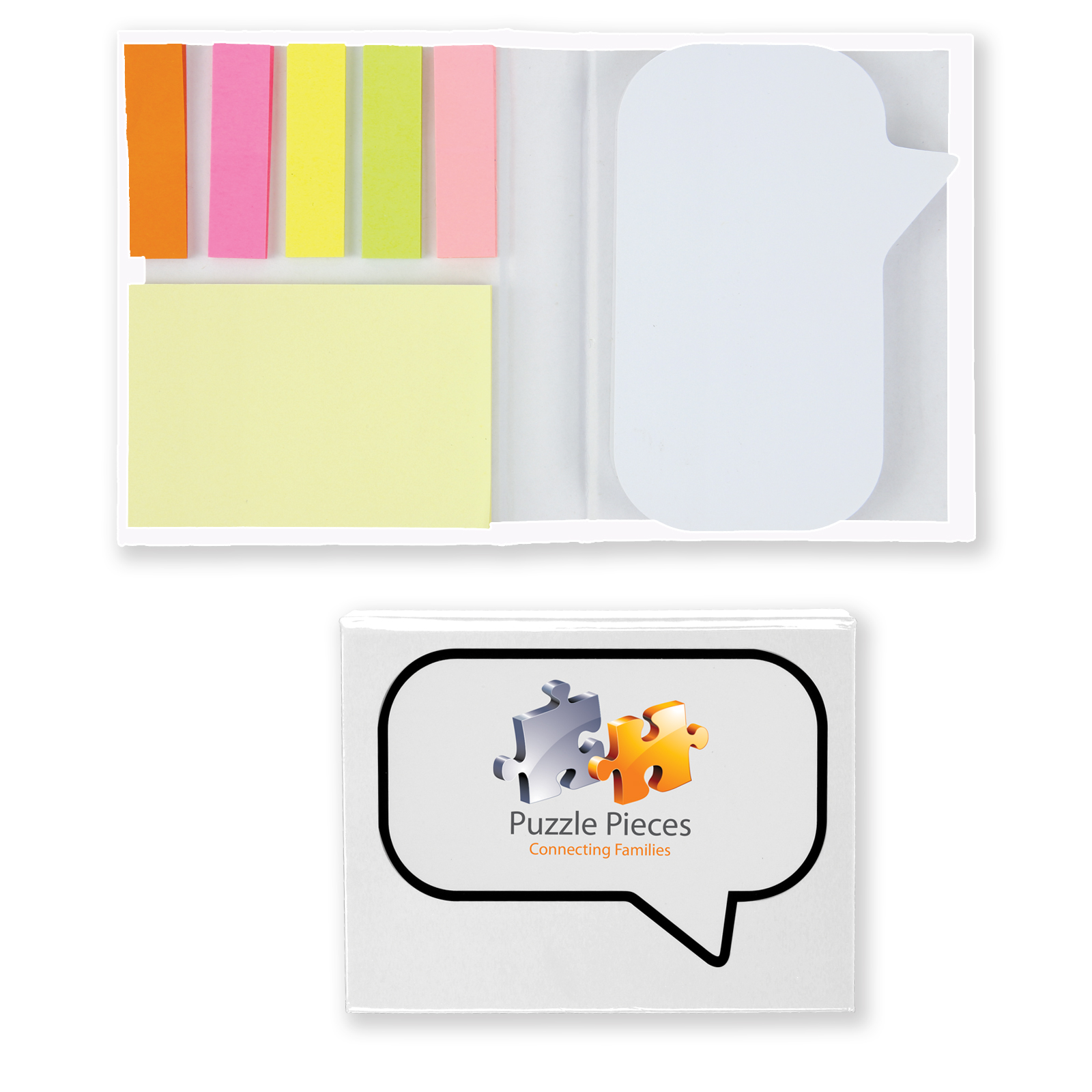 Speech Bubble Notepad with Flags - Includes a full colour logo, From $1.32