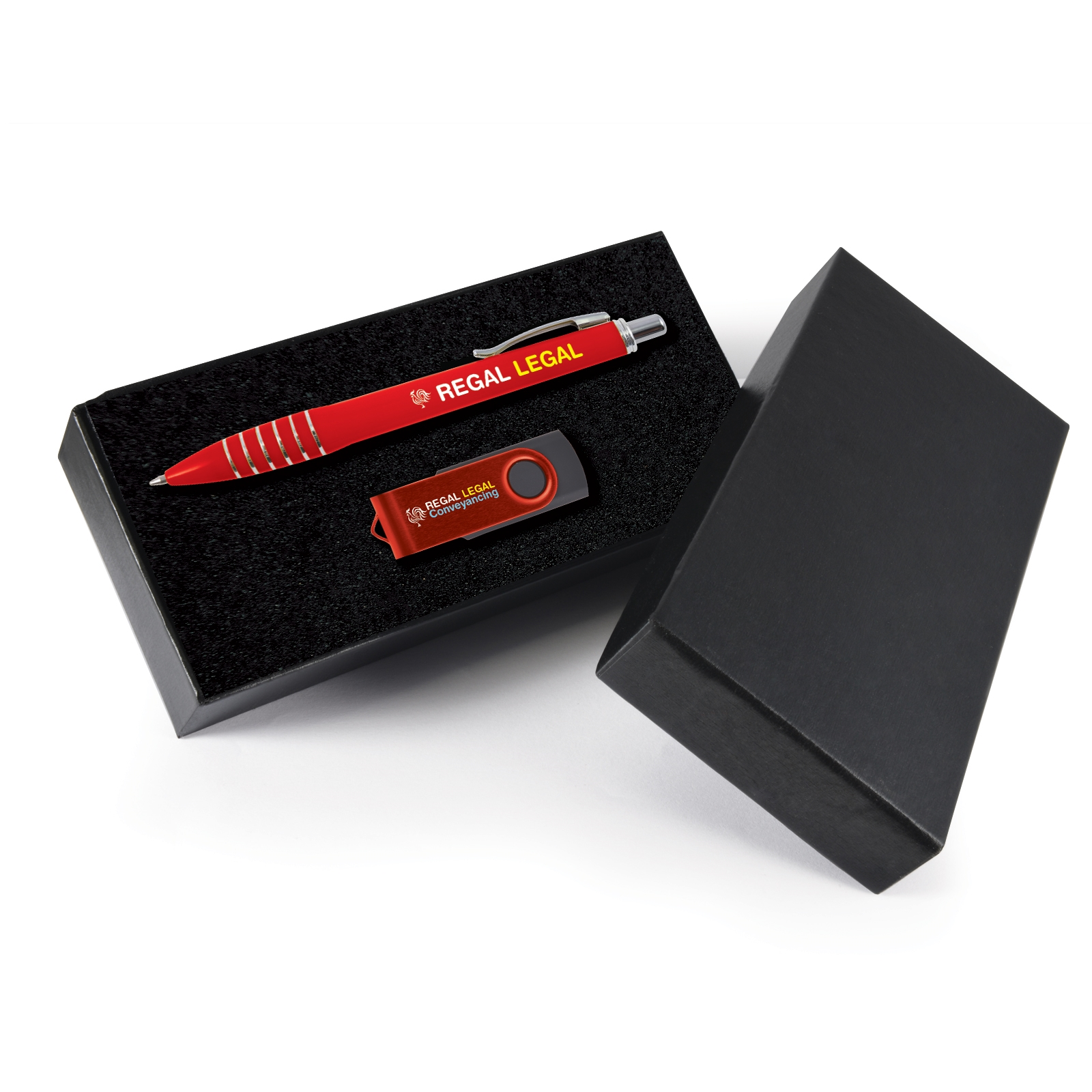 Destiny Gift Set - 2 Pos Digital Print - Pen + Flash Drive