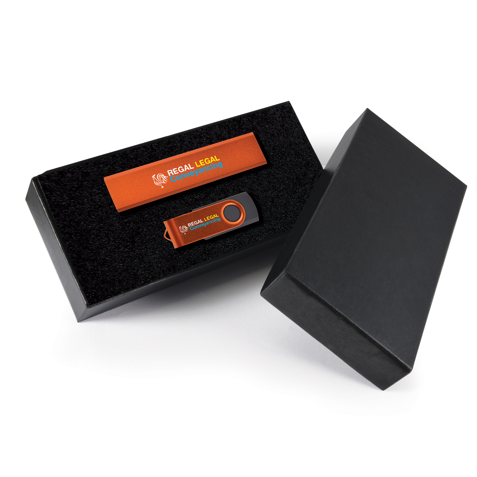 Infinity Gift Set - 2 Pos Digital Print - Power Bank + Flash Drive