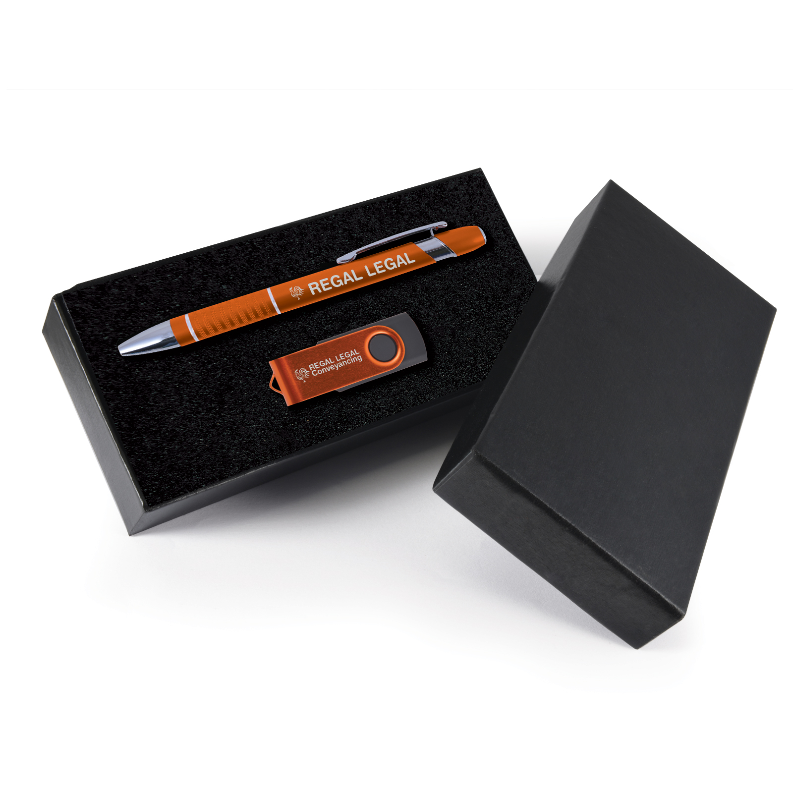 Alliance Gift Set - 2 Pos Laser Engraved - Pen + Flash Drive