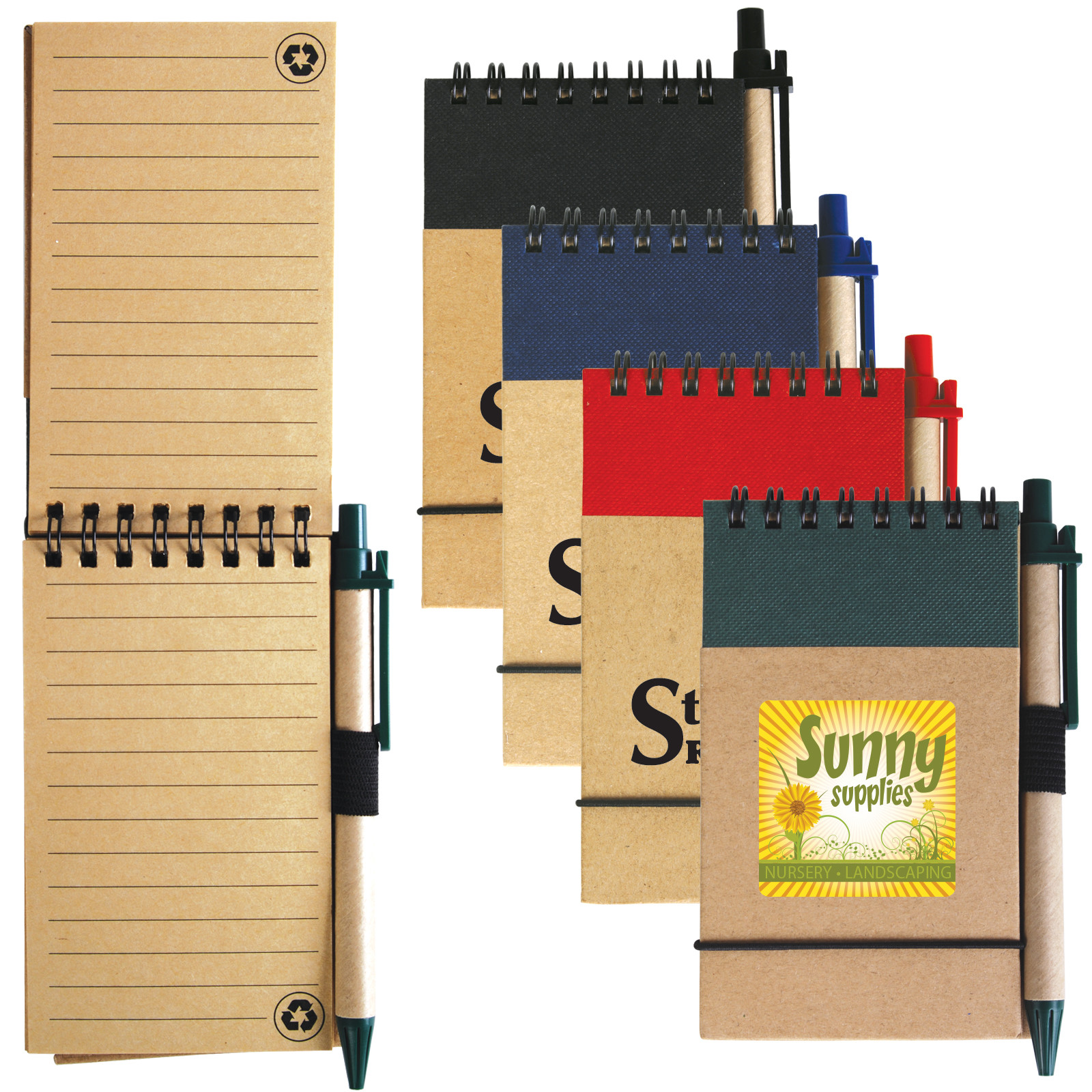 Tradie Cardboard Notebook with Pen - 1 Col 1 Pos Print on Notebook
