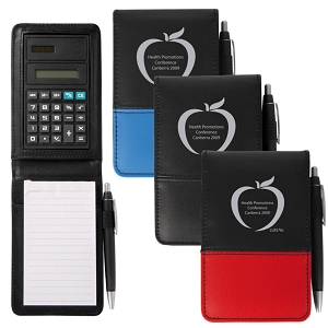 Ranger PVC Notepad with Calculator and Pen - Includes a 1 colour printed logo