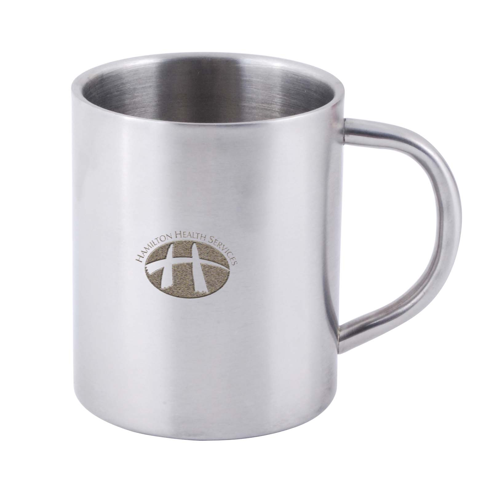 Stainless Steel Double Wall Barrel Mug - Includes laser engraving logo