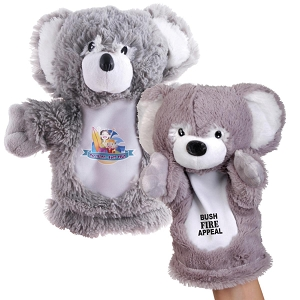 Plush Koala Hand Puppet - Includes a 1 colour printed logo, From $5.01
