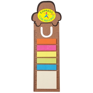 Car Bookmark / Ruler with Noteflags - Includes a full colour logo, From $0.41