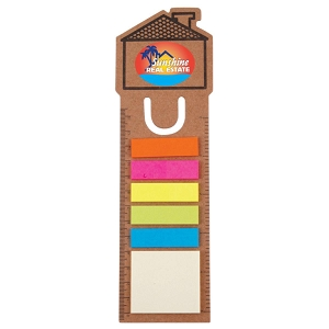 House Bookmark / Ruler with Noteflags - Includes a full colour logo